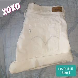 Levi's Jean Shorts High Rise White size 8